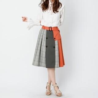 axes femme - 美品✨axes femmeトレンチ配色スカート
