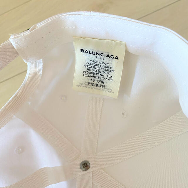 Balenciaga(バレンシアガ)のバレンシアガ キャップ 帽子 ベースボールキャップ ロゴ ホワイト 白 レディースの帽子(キャップ)の商品写真