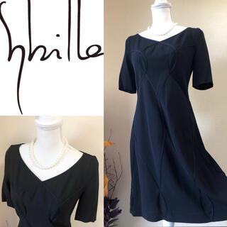 Sybilla - Sybilla シビラ 定価5.9万 高級 フォーマル ワンピース 黒 40 M