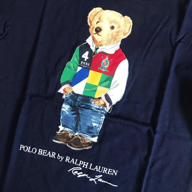 Ralph Lauren(ラルフローレン)の【今季新作】 ラルフローレン ポロベア   Tシャツ ネイビー110 キッズ/ベビー/マタニティのキッズ服男の子用(90cm~)(Tシャツ/カットソー)の商品写真