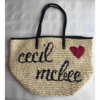 セシルマクビー(CECIL McBEE)のセシルロゴ 刺繍 カゴバッグ(かごバッグ/ストローバッグ)