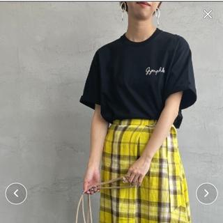 GYMPHLEX - GYMPHLEX/ジムフレックス ロゴ刺繍Tシャツ