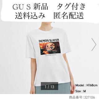 ジーユー(GU)の(340) 新品 GU S グラフィックT(半袖)Demon Slayer(キャラクターグッズ)