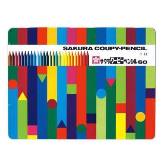 サクラ クーピー ペンシル 60 色鉛筆 クレパス