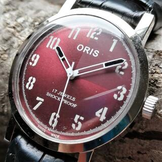 オリス(ORIS)の【美品s】オリス ORIS 腕時計 メンズ 機械式手巻きビンテージ アンティーク(腕時計(アナログ))