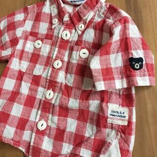 DOUBLE.B - mikihouseミキハウスダブルビー80半袖Tシャツチェックシャツ