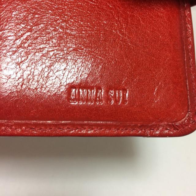 ANNA SUI(アナスイ)のANNA SUI(アナスイ)美品  - レッド レザー レディースのファッション小物(その他)の商品写真