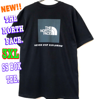 ザノースフェイス(THE NORTH FACE)のビッグサイズ ♪ ノースフェイス  BOXロゴ Tシャツ 黒 3XL ~ XXL(Tシャツ/カットソー(半袖/袖なし))