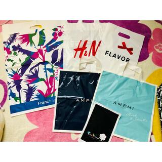 フランフラン(Francfranc)のショップ袋 ビニール袋 6点セット フランフラン H&M(ショップ袋)