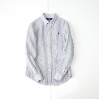GYMPHLEX - Gymphlex リネンストライプシャツ