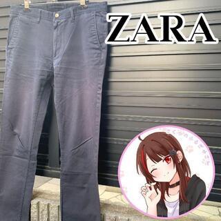 ザラ(ZARA)のZARA ザラスリムチノ チノパン ワークパンツネイビー32L(ワークパンツ/カーゴパンツ)