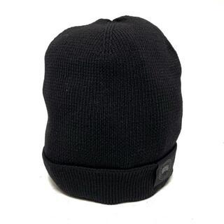 カナダグース(CANADA GOOSE)のカナダグース ONE SIZE美品  - 黒 ウール(ニット帽/ビーニー)