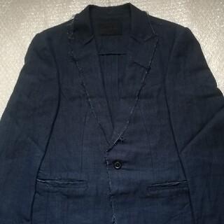 ジュンハシモト(junhashimoto)のジュンハシモト カットオフテーラードジャケット サイズ2 ダークネイビー(テーラードジャケット)
