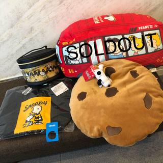 スヌーピー(SNOOPY)のスヌーピー祭り クッション バニティポーチ デニムトート(キャラクターグッズ)