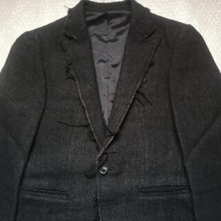 ジュンハシモト(junhashimoto)のジュンハシモト カットオフテーラードジャケット サイズ2 ブラック(テーラードジャケット)