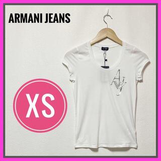 新品未使用品✨アルマーニ ジーンズ Tシャツ レディース XS 白 シルバー