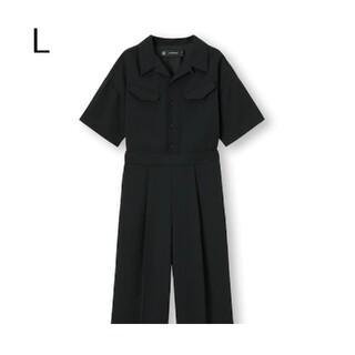 ジーユー(GU)の新品・未使用!【L】GU/ジャンプスーツ〔5分袖〕UNDERCOVER/ブラック(オールインワン)