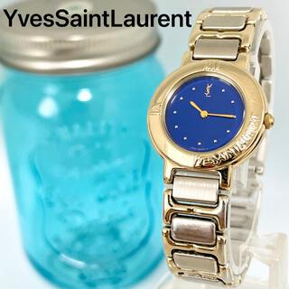 Saint Laurent - 179 イヴサンローラン時計 レディース腕時計 ネイビー アンティーク ゴールド