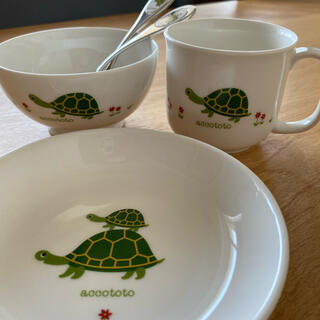 ニッコー(NIKKO)のaccototo 子供用食器セット(プレート/茶碗)
