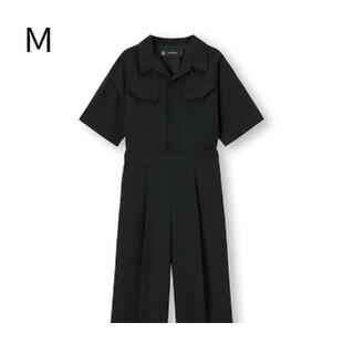 ジーユー(GU)の新品・未使用!【M】GU/ジャンプスーツ〔5分袖〕UNDERCOVER/ブラック(オールインワン)