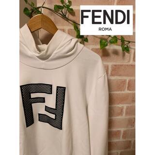 FENDI - 【販売証明書付!最安値!】FENDI フェンデイ デカロゴ パーカー