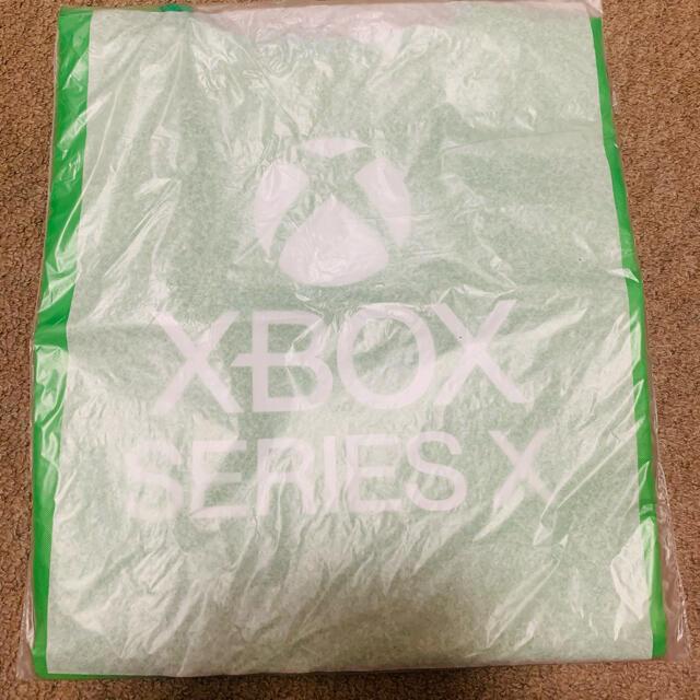 Xbox(エックスボックス)のxbox series X エコバッグ エンタメ/ホビーのゲームソフト/ゲーム機本体(家庭用ゲーム機本体)の商品写真