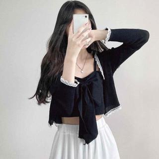 スタイルナンダ(STYLENANDA)の【予約商品】《3カラー》セット カーディガン リボン キャミ 韓国ファッション(セット/コーデ)