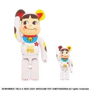 BE@RBRICK 招き猫 ペコちゃん 福 100% & 400%(その他)