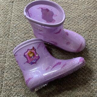 ディズニー(Disney)のプリンセスソフィア レインブーツ 長靴 18cm(長靴/レインシューズ)