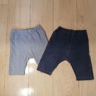 ユニクロ(UNIQLO)のユニクロ デニム風レギンス 2枚組 80サイズ(パンツ)