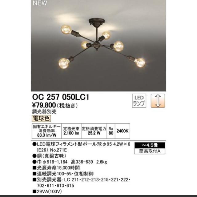ACTUS(アクタス)のオーデリック ライト ペンダントライト インテリア/住まい/日用品のライト/照明/LED(天井照明)の商品写真