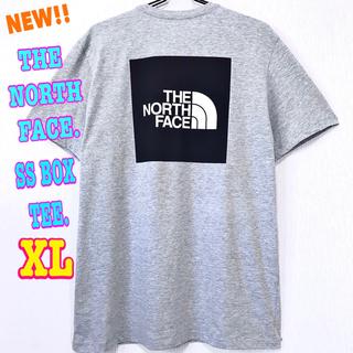 ザノースフェイス(THE NORTH FACE)の清涼感 ♪ ノースフェイス BOXロゴ Tシャツ ライトグレー XL LL(Tシャツ/カットソー(半袖/袖なし))