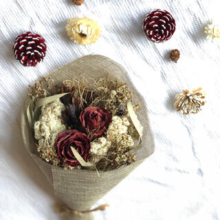 ドライフラワー 松ぼっくり 布花 造花 ウェルカムスペース クリスマス(ドライフラワー)