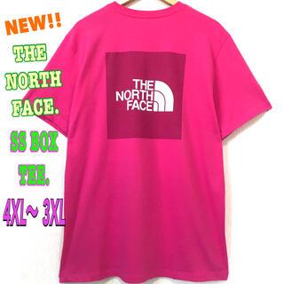 ザノースフェイス(THE NORTH FACE)の超ビッグ☆ 4XL ~  3XL 新品 ノースフェイス BOX Tシャツ ピンク(Tシャツ/カットソー(半袖/袖なし))