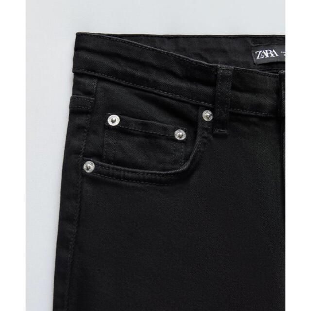 ZARA(ザラ)の新品未使用★ZARAスキニーデニム★ブラック★サイズ34★2点以上購入でお値引き レディースのパンツ(デニム/ジーンズ)の商品写真