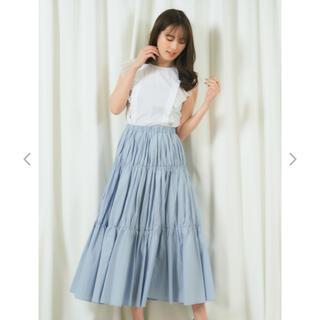 ミーア(MIIA)のmiia ギャザープリーツスカート フリル袖ブラウス(セット/コーデ)