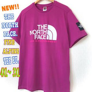 ザノースフェイス(THE NORTH FACE)の超ビッグ ♪ ノースフェイス ファイン アルパイン Tシャツ EU パープル(Tシャツ/カットソー(半袖/袖なし))