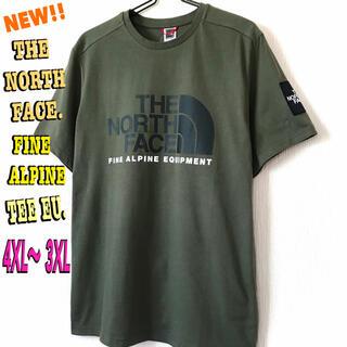 ザノースフェイス(THE NORTH FACE)の超ビッグ ♪ ノースフェイス ファイン アルパイン Tシャツ EU ニュートープ(Tシャツ/カットソー(半袖/袖なし))
