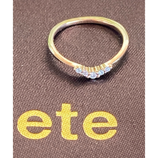 ete - ETE エテ k18 ピンキーリング