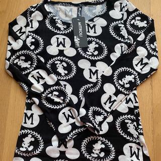 ディズニー(Disney)のDisney ミッキー ロングTシャツ(Tシャツ/カットソー(七分/長袖))