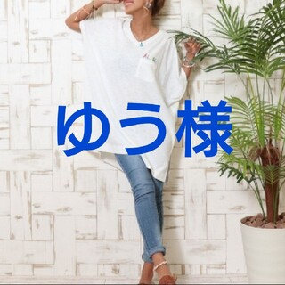 アナップミンピ(anap mimpi)のanap mimpi ALOHA刺繍VネックTシャツ(Tシャツ(半袖/袖なし))