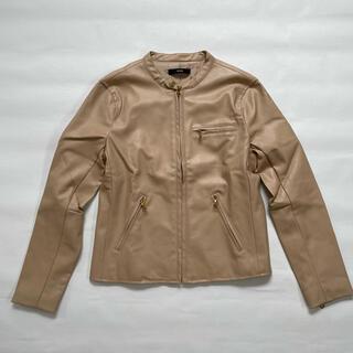 デュラス(DURAS)のライダースジャケット beige(ライダースジャケット)
