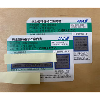 エーエヌエー(ゼンニッポンクウユ)(ANA(全日本空輸))のANA 全日空 株主優待券 2枚 送料無料(航空券)