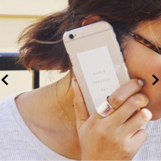 トゥデイフル(TODAYFUL)のtodayful iPhoneケース クリアiPhoneケース(その他)