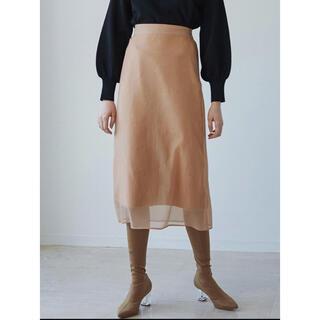 ラグナムーン(LagunaMoon)のセールLAGUNAMOON ラグナムーンオーガンジーナロースカート(ひざ丈スカート)