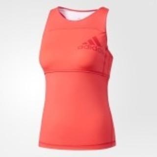 アディダス(adidas)のadidas アディダス カップ付き タンクトップ ピンク Sサイズ(ヨガ)