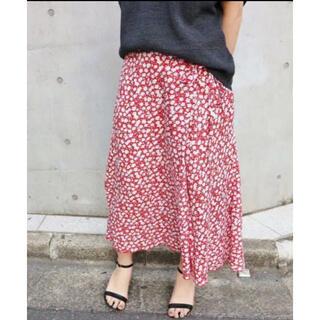 イエナ(IENA)の新品⭐️IENA レトロフラワー ラップスカート (ひざ丈スカート)