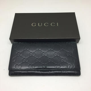Gucci - GUCCI グッチ  長財布 エンボス 箱付