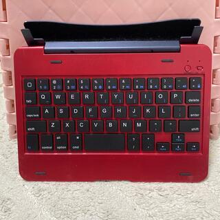 iPad mini用キーボード 赤(iPadケース)