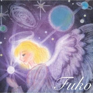 【カード付ポスカ】パープルの天使~スピリチュアル ★2枚組 カラーセラピー 紫(アート/写真)